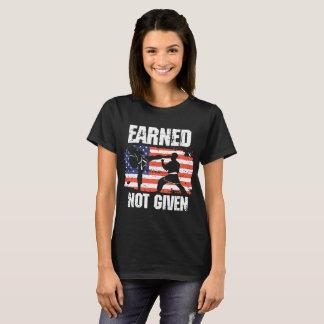 Camiseta ganhado para não dar t-shirt americanos