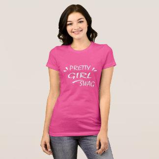 Camiseta Ganhos bonito da menina