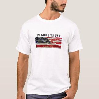 Camiseta Garantia da fidelidade. Confiança no deus