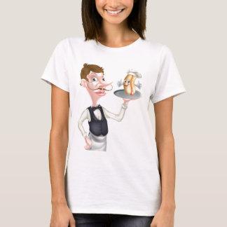 Camiseta Garçom do Hotdog dos desenhos animados