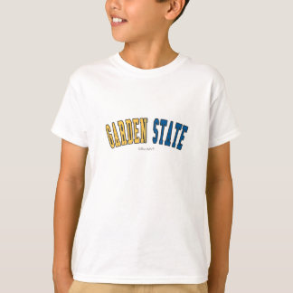 Camiseta Garden state em cores da bandeira do estado