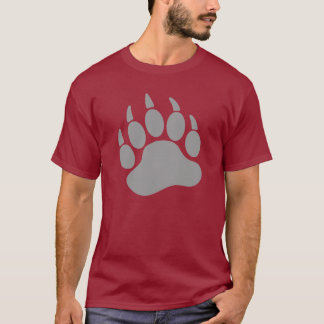 Camiseta Garra de urso cinzenta do orgulho do urso (L)