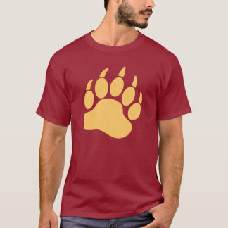 Camiseta Garra de urso de creme do orgulho do urso (R)