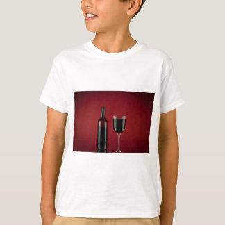 Camiseta Garrafa de vidro de vermelho de vinho