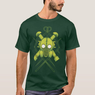 Camiseta Gasmask tribal do verde do combate
