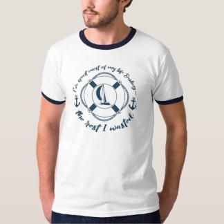 Camiseta Gastado a maioria de minha navigação da vida… o