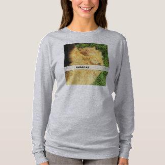 Camiseta Gatinho alaranjado Selfy de Snapcat