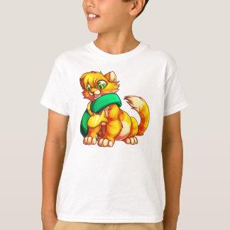 Camiseta Gatinho alaranjado T