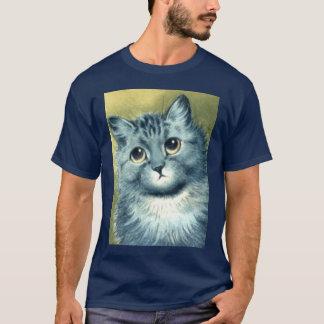 Camiseta gatinho azul
