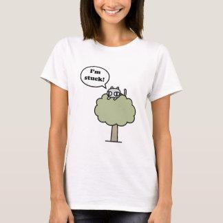 Camiseta Gatinho colado na árvore