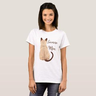 Camiseta Gatinho da mamã do gato Siamese de Sasha que olha
