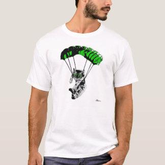 Camiseta Gatinho de salto de pára-quedas