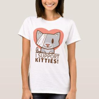 Camiseta Gatinho do apoio