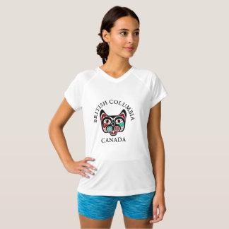 Camiseta Gatinho do Haida do Columbia Britânica