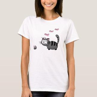 Camiseta Gatinho e amor de Mousie