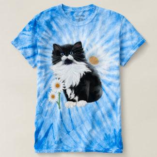 Camiseta Gatinho e margarida