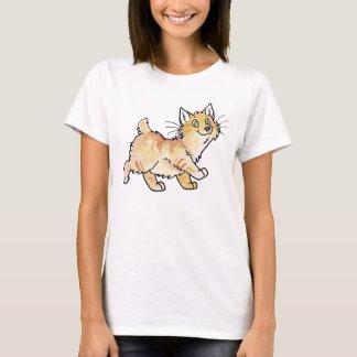 Camiseta Gatinho Manx do gato malhado de creme