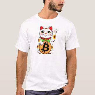 Camiseta Gato afortunado 01 de Bitcoin Maneki Neko