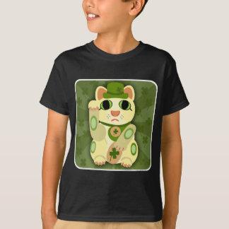 Camiseta Gato afortunado do dia de Patrick de santo
