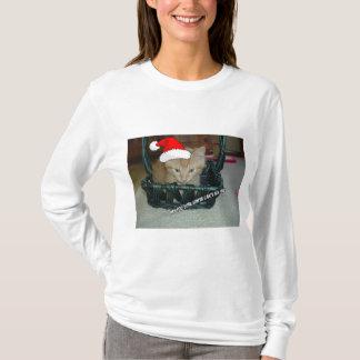 Camiseta Gato alaranjado do gatinho do gato malhado do