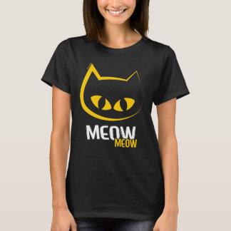 Camiseta Gato amarelo Grande-Eyed do Meow
