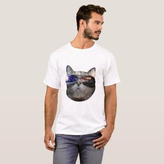 Camiseta Gato americano com óculos de sol