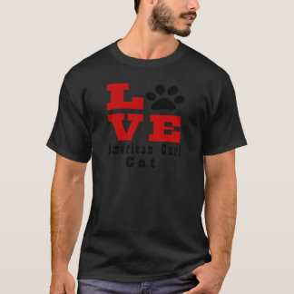 Camiseta Gato americano Designes da onda do amor