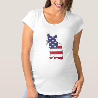 "Camiseta Gato ""bandeira americana """