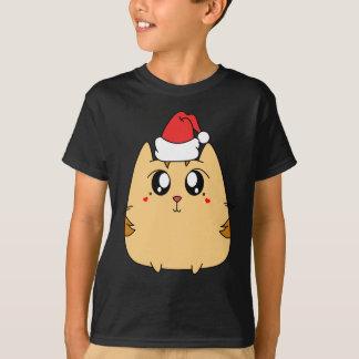 Camiseta Gato bonito do gatinho do Natal