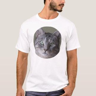Camiseta gato cinzento