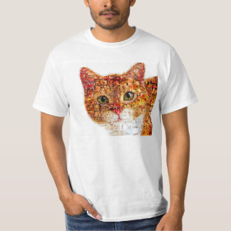 Camiseta Gato - colagem do gato
