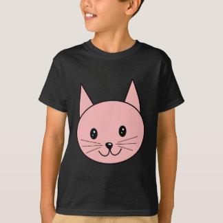 Camiseta Gato cor-de-rosa