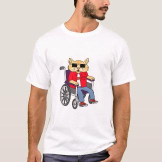 Camiseta Gato da cadeira de rodas