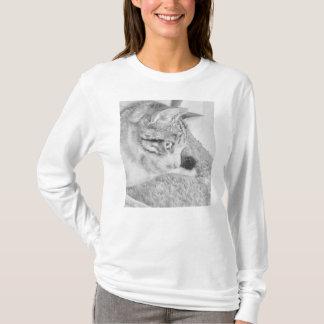 Camiseta Gato da escala cinzenta