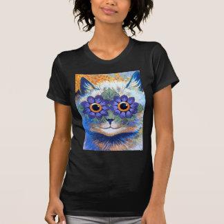 Camiseta Gato de flower power