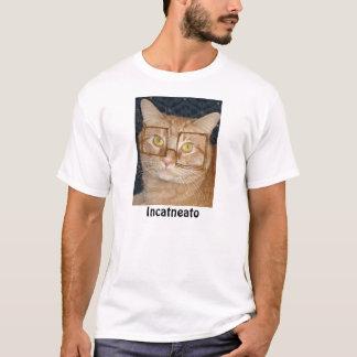 Camiseta Gato de gato malhado alaranjado/em incógnito humor