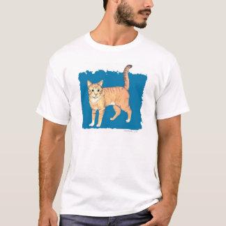 Camiseta Gato de gato malhado amarelo