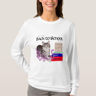 Camiseta Gato de gato malhado de volta à escola