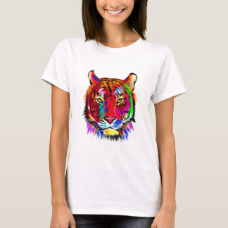 Camiseta Gato de muitas cores