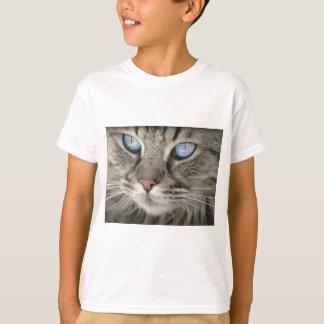 Camiseta Gato de tigre animal dos olhos de gato do retrato