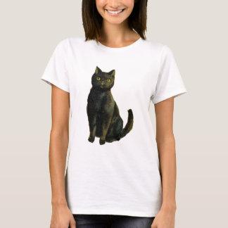 Camiseta Gato do Dia das Bruxas do vintage