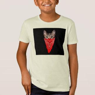 Camiseta gato do gângster - gato do bandana - grupo do gato
