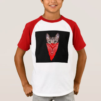 Camiseta gato do gângster - gato do bandana - grupo do gato