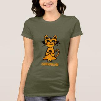 Camiseta Gato do OM - t-shirt engraçado da ioga para