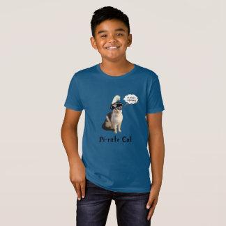 Camiseta Gato do pirata do dia do Pi
