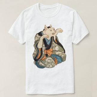 Camiseta Gato do quimono, Utagawa Yoshifuji, Ukiyo-e