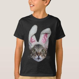 Camiseta Gato do savana do coelhinho da Páscoa
