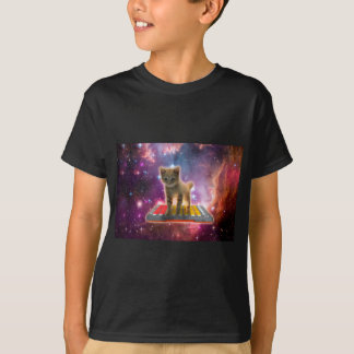 Camiseta gato do teclado - gato de gato malhado - gatinho