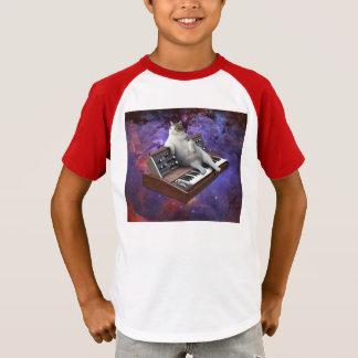 Camiseta gato do teclado - memes do gato - gato louco