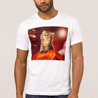 Camiseta gato do vulcão, gato vulcan,